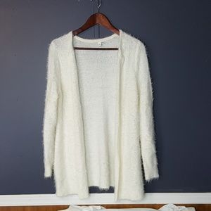 Jules & Leopold white mid length cardigan